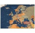 Détail de notre tableau design carte du monde océan