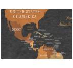 Détails de notre tableau carte du monde décorative