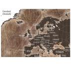 Pays de notre tableau design carte du monde effet bois