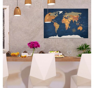 Modern canvas print of the sea world for a design wall decoration