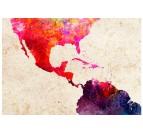 Détails de notre carte du monde couleur en tableau déco