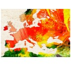 Details of our world map canvas print with colors