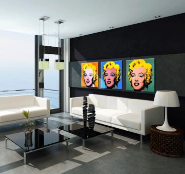 marilyn monroe triptyque pop art. Black Bedroom Furniture Sets. Home Design Ideas