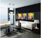 Marilyn Monroe Triptyque Pop Art
