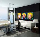 Marilyn Monroe Triptyque Pop Art
