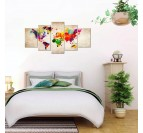 Room wall decoration with our colored world map canvas for a design touch