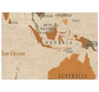 Details of our classic world map decoration in one panel