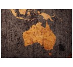 Détails de notre tableau carte du monde orange