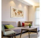 Classic world map design canvas for an unique touch into your home