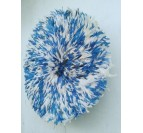 Blue and white juju hat decoration for a stylish interior
