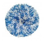 Blue and white juju hat for a wall decoration with ethnic touches
