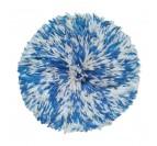 Magnifique juju hat africain bleu avec des touches blanches pour un intérieur ethnique