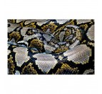 Yellow and grey snake art photo with brillant colors