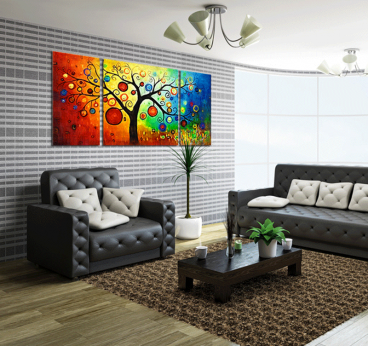design decoration tree contemporary art print artwall and co