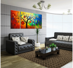Design Decoration Tree Tableau Contemporain