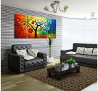 Design Decoration Tree Tableau Contemporain