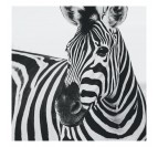Black and white zebra aluminium decoration for a modern interior