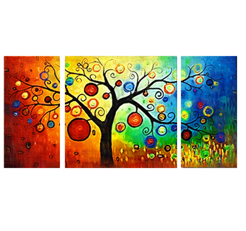 Design decoration tree contemporary art print artwall and co for Poster contemporain