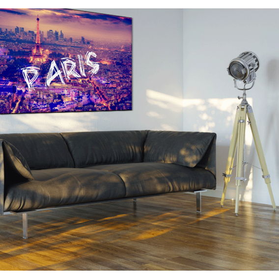 Paris By Night City Art Print