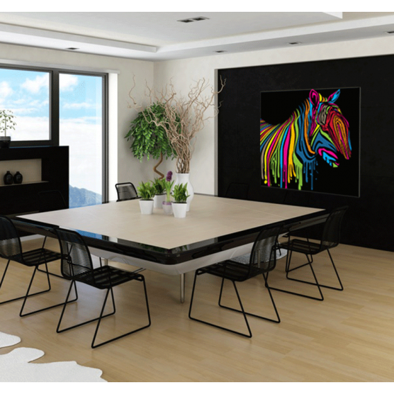 Zebra Flash pop art canvas