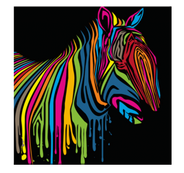 Tableau Pop Art Zebra Flash