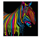 Tableau Pop Art Zebra Flash