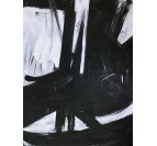 Wall oil painting decoration with black and white colors