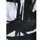 Toile peinture design en noir et blanc pour une décoration murale moderne et classique