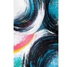 Peinture sur toile design de plusieurs courbes multicolores pour votre intérieur