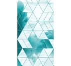 Toile peinture design avec du bleu pour un tableau contemporain