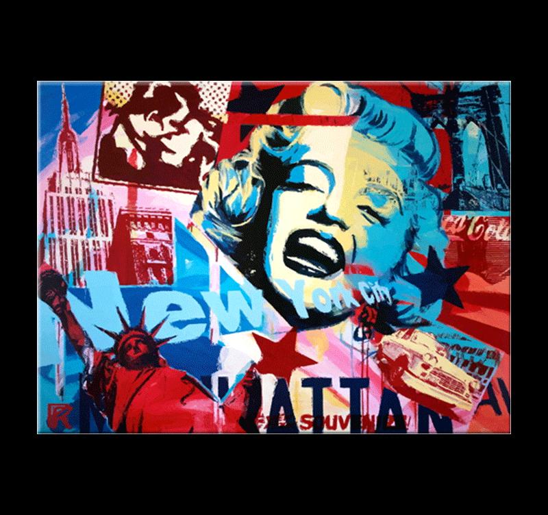 New York Symbols Pop Art Canvas Artwall And Co