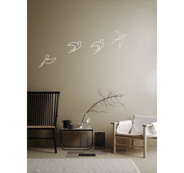 Inspiration d'intérieur tendance avec nos oiseaux blancs en métal pour une décoration design