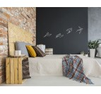 Wall deco bedroom with our 4 birds design in metal
