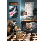 Design oil painting with different colors in a modern room decoration