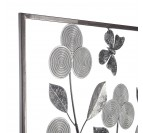 Details of our plant design metal frame in a silver color
