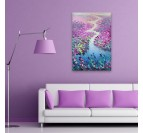 A design river on an oil painting for a living room wall decoration