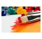 Brush oil painting decoration for a design interior