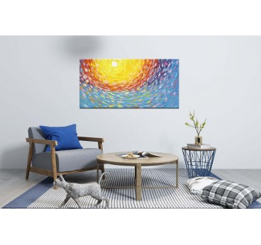 Modern sublimation oil painting for a design interior decoration