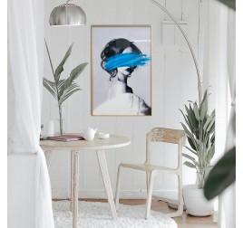 Blue fashion wall art