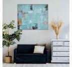 Tableau peinture moderne blis dans un salon tendance