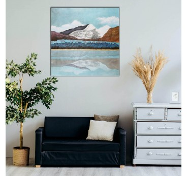 Design wall painting of a mountain for a modern wall decoration in your interior