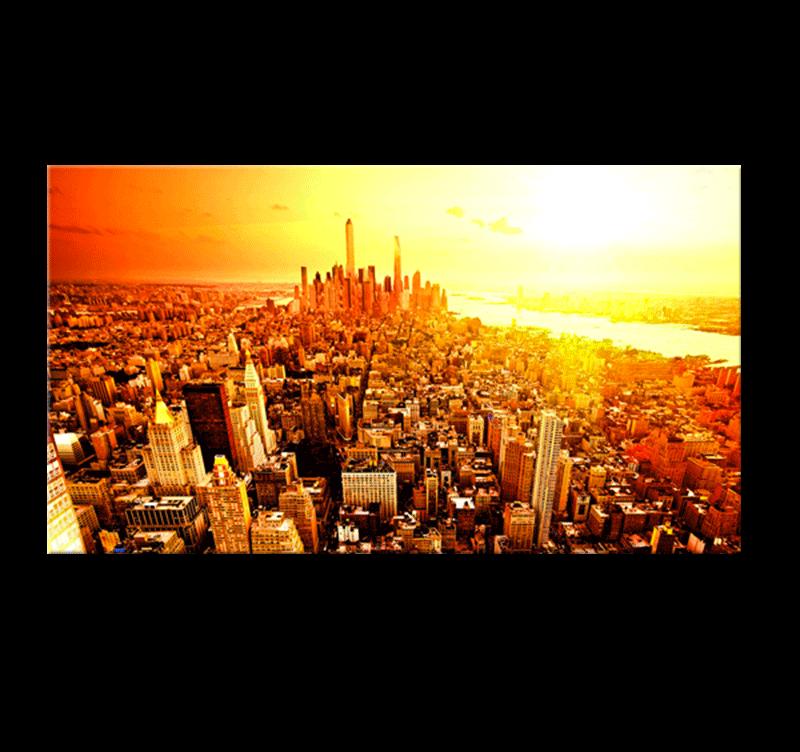 New york sunrise tableau ville for Ville a new york