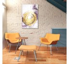 Modern purple oil painting handmade by our artist in a living room wall decoration