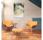 Tableau peinture fait main par notre artiste dans une décoration murale moderne de salon