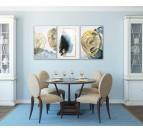 Cette toile peinture sur tableau propose 3 cadres dans des versions modernes pour votre déco murale