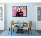 Fashion oil painting in a pop art style with Madonna to create a modern wall decoration