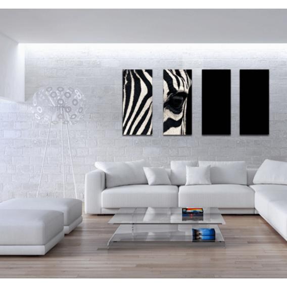Zebra's Eye Modern Poliptych