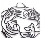 Métal de notre décoration murale tigre design