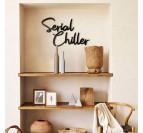 Chiller metal design decoration in a contemporary interior