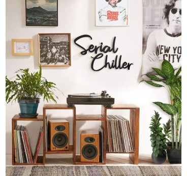 Serial chiller metal wall decoration for a cool design interior